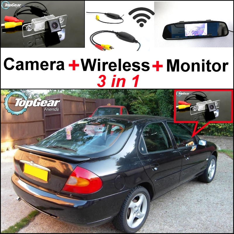 3 in1 Special Rear View Camera + Wireless Receiver + Mirror Monitor  Parking System For Ford For Mondeo 1996~2007<br><br>Aliexpress