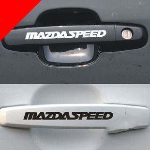 4 x Reflective Car Door Handle Sticker And Decal Mazda speed Sticker For Mazda 2 Mazda 3 2014 Mazda 6 2014 Mazda cx 5 Mazda Cx7(China (Mainland))