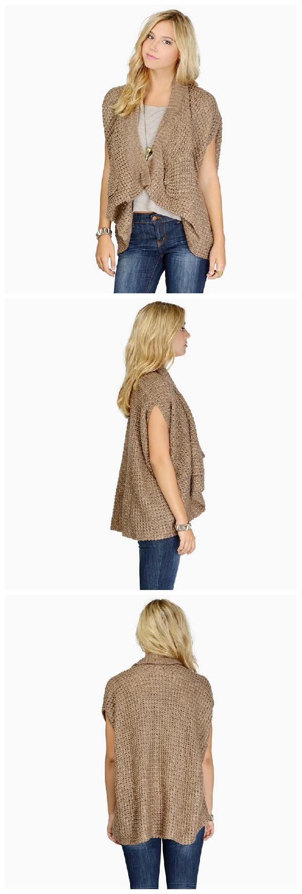 2015 женщин плечами свитер битой рукав карманные случайные потерять топы плюс размер падение судоходство hdy-202