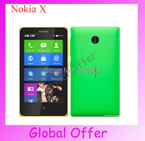Original Unlocked Nokia X Cellphone 3.15MP Camera Wifi GPS Bluetooth FM Android OS refurbished(China (Mainland))
