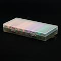 Soshine 8X18650 Battery Holder Case 18650 Battery Storage Box with Hook Holder Transparent Strong Hard