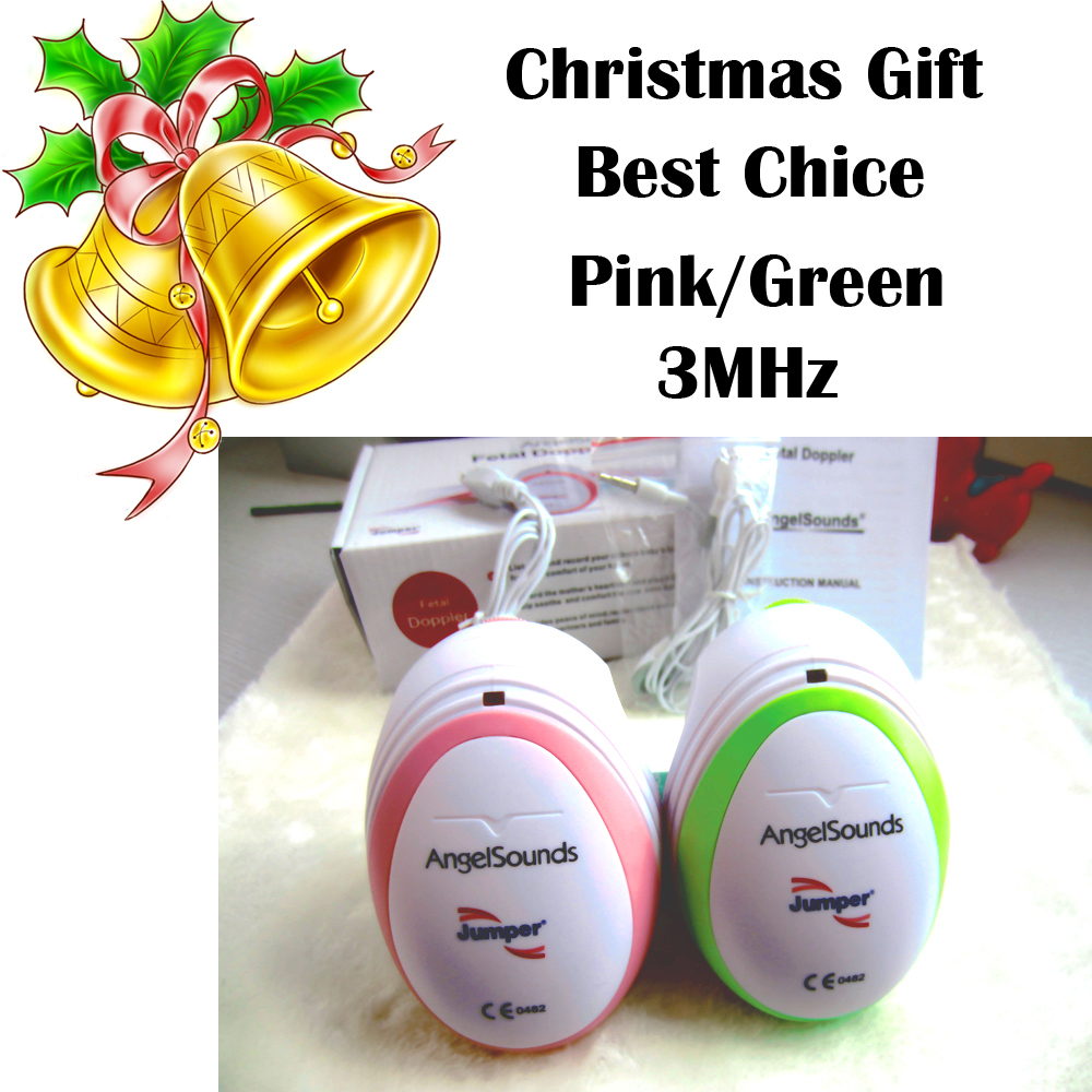 Christmas Gift 3pcs CE&FDA Factory direct fetal doppler, pocket ultrasound fetal monitor, prenatal monitor, Angel sound(China (Mainland))