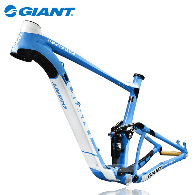 "GIANT 27.5"" Mountain Bike MTB Frame Anthem 27.5-FR Aluminum Alloy Cycling Frame Size 16""/18'' Blue Black White Prefect Package(China (Mainland))"