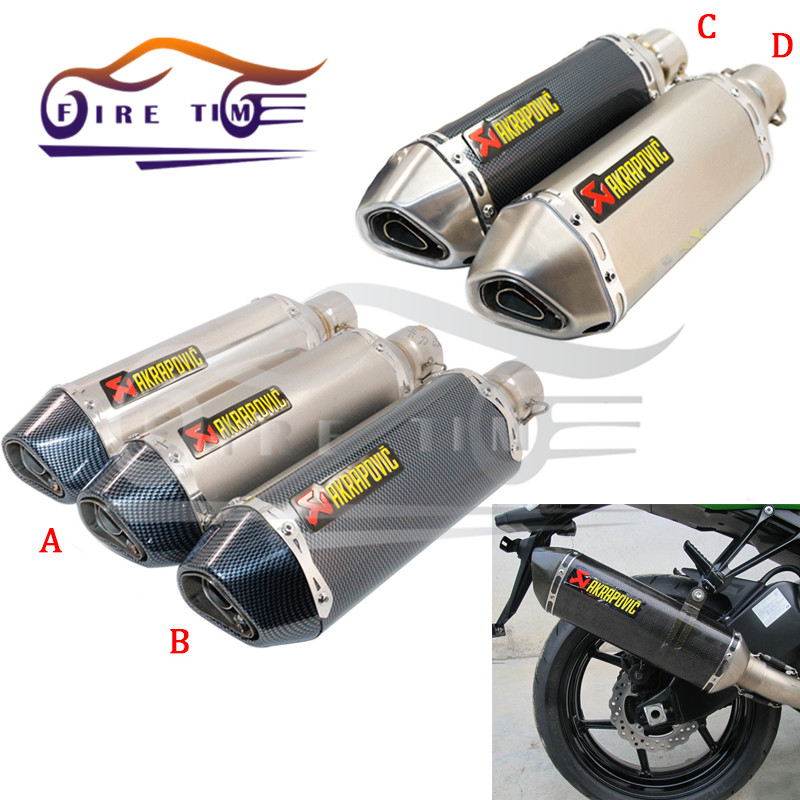 Motorcycle Modified Exhaust Scooter Muffler Akrapovic Exhaust  For KAWASAKI KX450F 2006 2007 2008 2009 2010 2011 2012