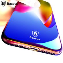 Baseus Case For iPhone 7 / 7 Plus Luxury Transparent Gradient Color Phone Case Cover For iPhone 7 Plus Coque Hard Glaze(China (Mainland))