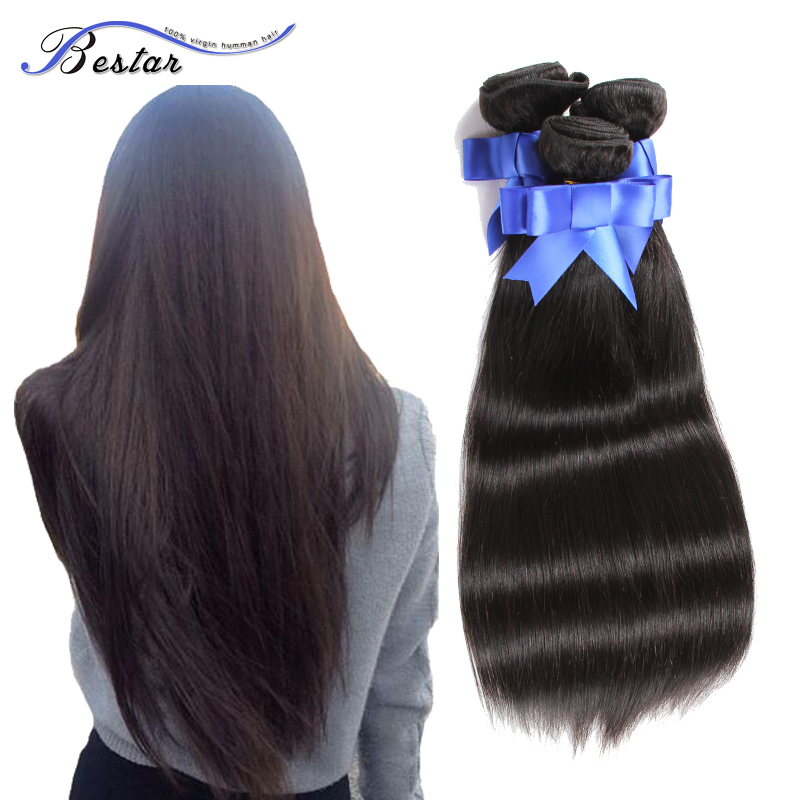 Rosa Hair Products Virgin Malaysian Straight Hair 3Pcs Unprocessed Malaysian Virgin Hair Straight 100% Human Hair Weave Bundles