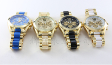 2014 New Fashion Kors Watch Gold Color Mens Watches Top Brand Luxury Hot Selling Ladies Watch