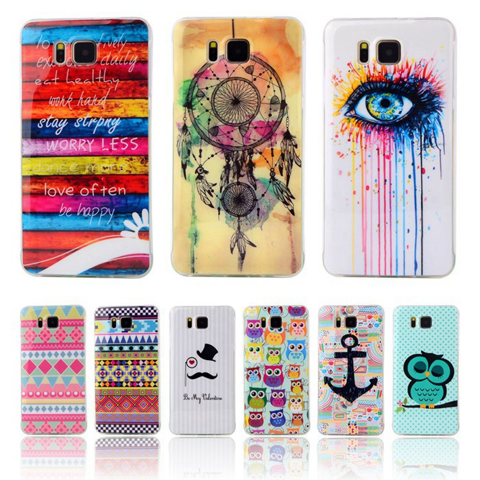 G850 Fashion Owl Tower Flag Cartoon Pattern Soft TPU Case For Samsung Galaxy Alpha G850 G850F G8508S Mobile Cell Phone Cover(China (Mainland))