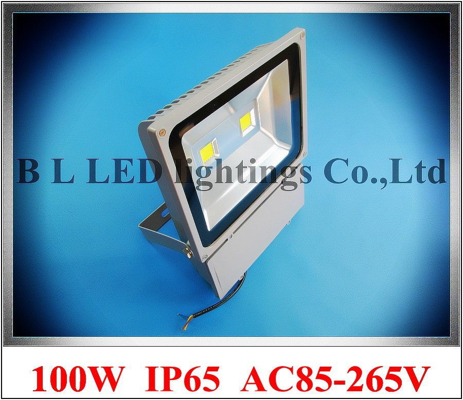 LED flood light 100W(2 X 50W) LED floodlight spotlight flood lamp wall washer outdoor AC85-265V 7000-8000lm new design(China (Mainland))
