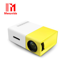 Mesuvida Original YG300 LED Portable Projector 500LM 3.5mm Audio 320x240 Pixel HDMI USB Mini YG-300 Projector Home Media Player(China (Mainland))