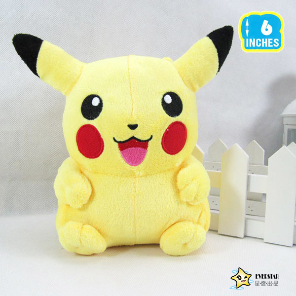 Picachu 15cm Pokemon Plush Toy Pikachu Soft Toy For Children Gift Chirstmas Collection(China (Mainland))