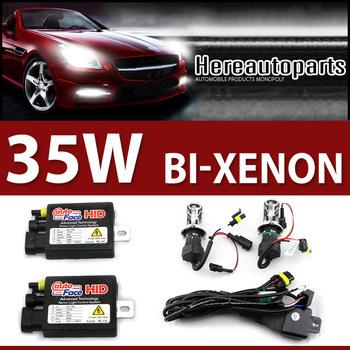 2015 Xenon Hid kit Skillful manufacture 12v 35w bi xenon H4 h4-3 hi/lo Hid bi-xenon KIT 4300k 5000k 6000k lamp light for car(China (Mainland))