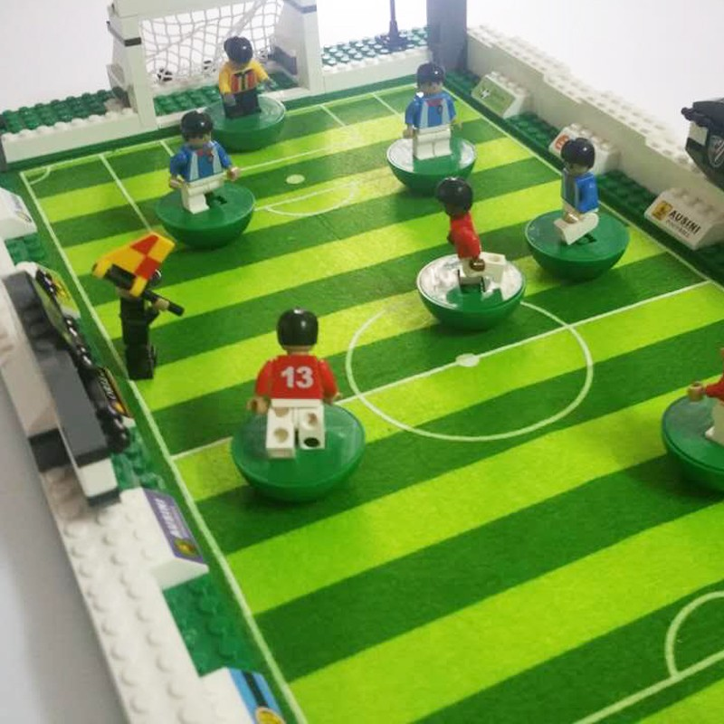 Mannequin constructing kits appropriate with lego metropolis soccer collection 199 3D blocks Instructional mannequin constructing toys hobbies for kids