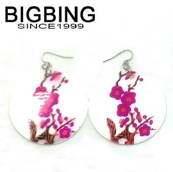 Bigbing мода ювелирные изделия мода серьги оболочки розовый цветок популярные мотаться серьги бесплатная доставка G104