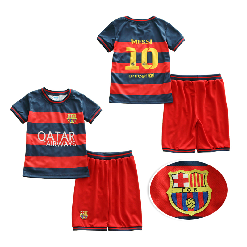 2016 1-5Y Kids Football Kits Children Football Clothing Set Breathable Casual Set Baby Boy Clothes Twinset Summer Sports Set(China (Mainland))