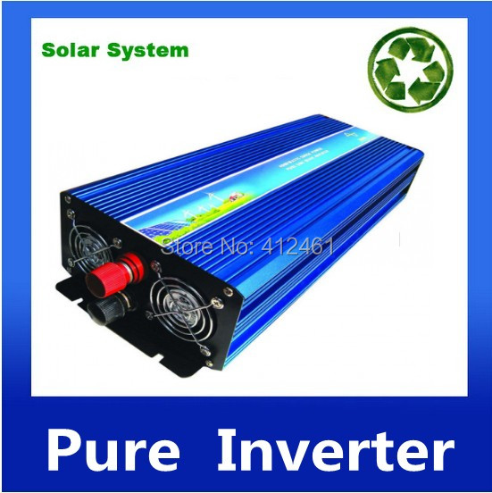 2500W de onda sinusoidal pura potencia del inversor 12VDC a 220VAC inversor de la energia del coche del inversor convertidor<br><br>Aliexpress