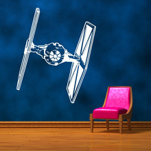 STAR WARS TIE FIGHTER wall art vinyl sticker room decal movie stencil decor