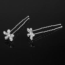 20PCS Wedding Accessories Bridal Sunflowers Hair Pins Flower Crystal Hair Clips Bridesmaid Tiara Hair Jewelry Free