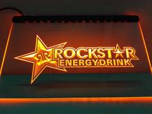 LE228- Rockstar Energy Drink Beer Bar LED Neon Light Sign(China (Mainland))