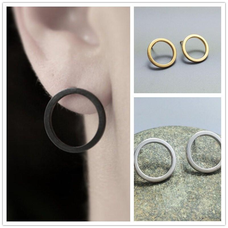 Гаджет  New fashion jewelry copper easy round stud gift for women girl E2881 None Ювелирные изделия и часы