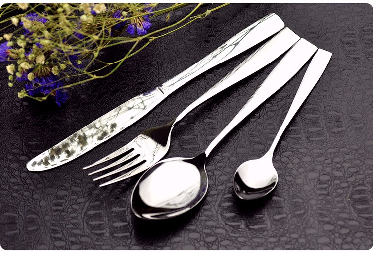 Buy Finest Quality Simple Style Food Grade Stainless Steel Cutlery Set,Knife Fork Spoon Tea Spoon,24 Pieces Set,Family Tableware cheap