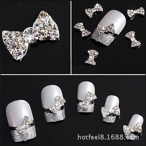 One piece glitter nail tools 3d nail art decorations for for 3d nail art decoration