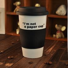 Hot 350ml coffee mug coffee cups single layer mug silicone sleeve coffee cup tea cup tumbler