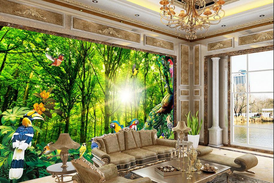 Palm Bladeren Behang Tropisch: Fotobehang tropisch canvas printen ...