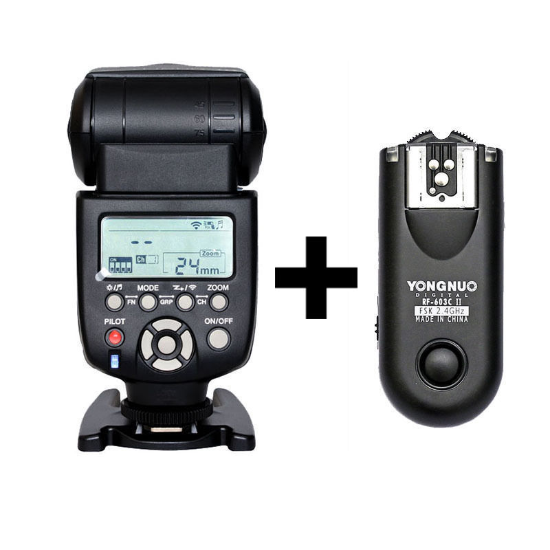 Yongnuo YN-560 III Flash Speelite With RF-603 II Single Transceiver Trigger for Nikon D800 D750 D600 D5000 D3000 D6 SLR<br><br>Aliexpress