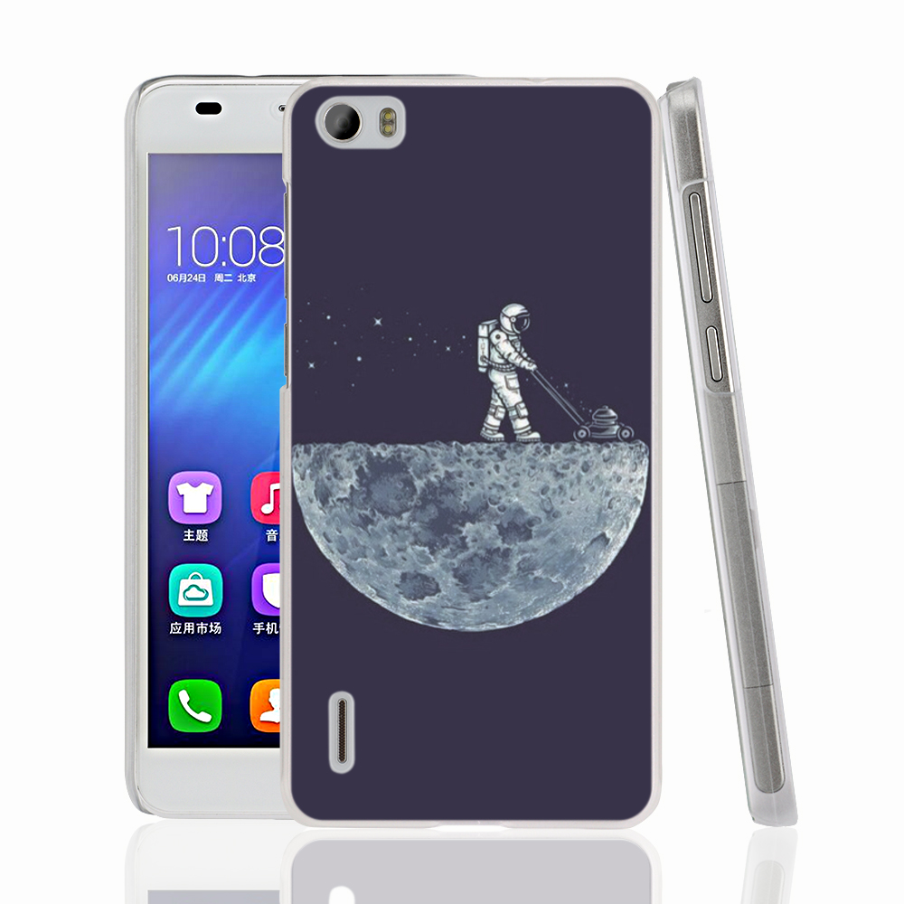 06838 Mown Moon Cleaner cell phone Cover Case for huawei honor 3C 4A 4X 4C 5X 6 7(China (Mainland))