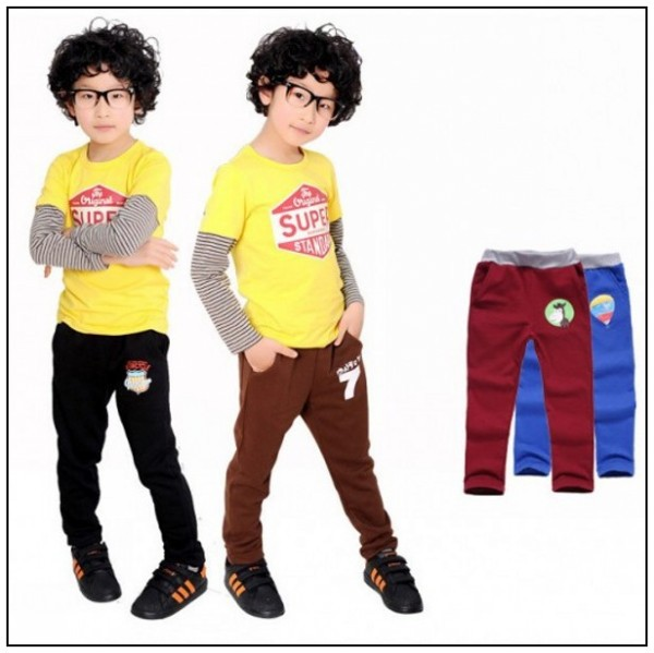 Fashion baby boy pants spring autumn children cotton boys girls casual sport 2-5 year - rapture company store