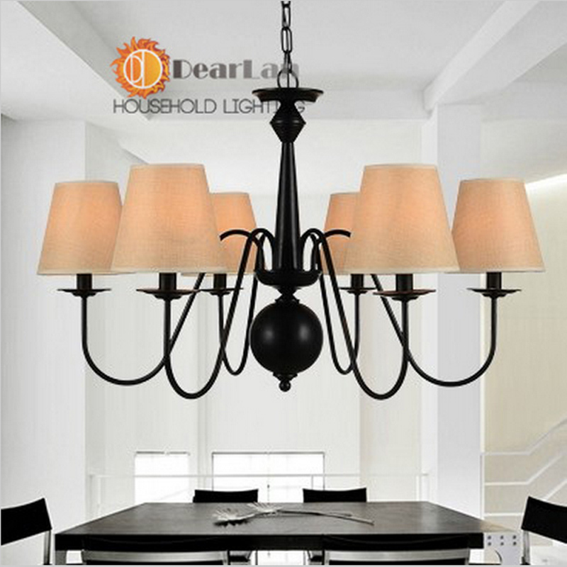 D76*H45cm, Excellently Painted,Vintage Pendant Lamps With 6 Arms With Fabric Shade,Good Decoration Pendant Light For Living Room<br><br>Aliexpress