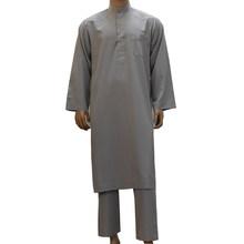 2019 Panjang 2 Buah Set Ropa Hombre Abaya Arab Muslim Ropa De Hombre Arab Saudi Pakistan Arab Qatar Oman Islam pakaian Pria(China)