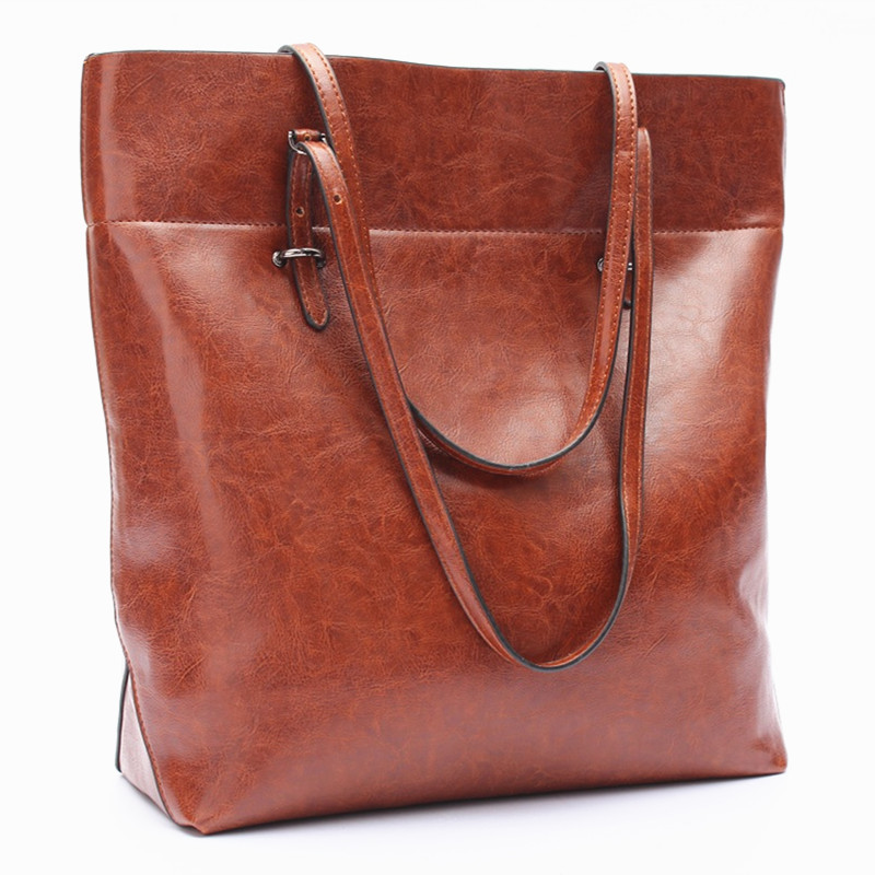 Fashion Large Casual Bags Leather Multifunction Shoulder European American Style Solid Handbag Slot Zipper Pockets 1pcs(China (Mainland))