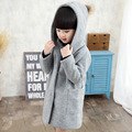 Kids Time limited Top Fashion Long Solid Fashion Cotton Full Girls Woolen Coat In The Autumn