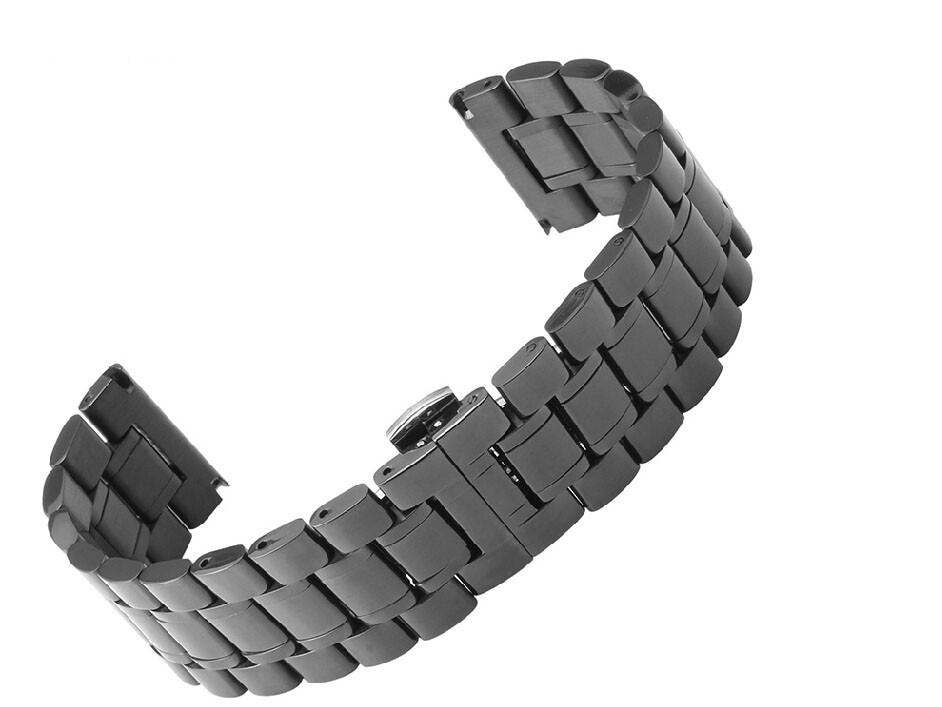 Ремешок 18 мм 20 мм 22 мм 24 мм 26 мм 30 мм Черный Нержавеющая Сталь Repalcement Смотреть band браслеты Для DZ7247