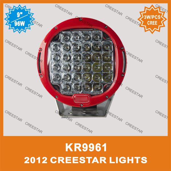 9inch round off road ,black Red color, 12V 90w cree led driving lights,DC 12V LED forklift driving lights KR9961 GOOD FEEDBACK(China (Mainland))