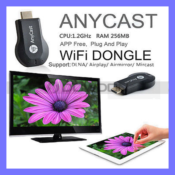 1080P Anycast Miracast/Airplay/DLNA Wifi Display Receiver HDTV Dongle TV Stick(China (Mainland))