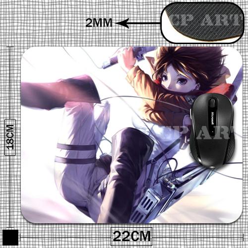 Attack on Titan Japanese Anime Mikasa Ackerman Anti-Slip Laptop Computer Mice Pad Mat Mousepad For Optical Laser Mouse<br><br>Aliexpress