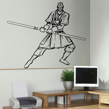 LARGE DARTH MAUL STAR WARS BEDROOM WALL ART STICKER MURAL TRANSFER VINYL DECAL DIY WALLPAPER WALL DECALS