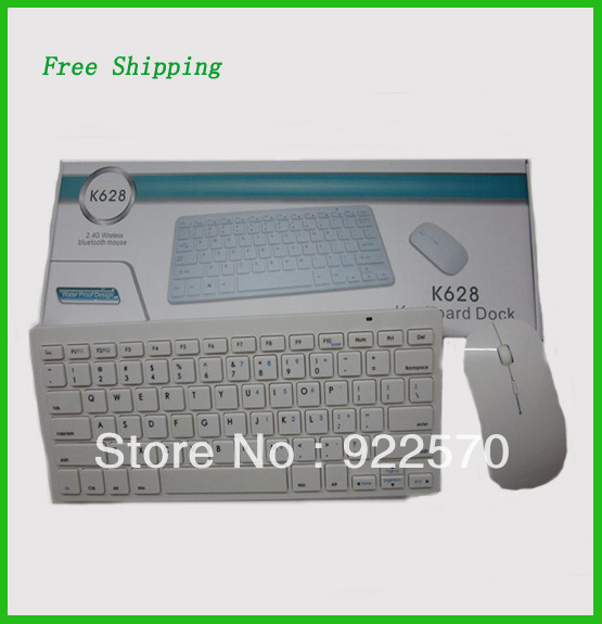 Free Shipping!!Wholesale Wireless Keyboard And Mouse, Neutral Keyboard Suits For Apple Wireless Keyboard Mouse Suit