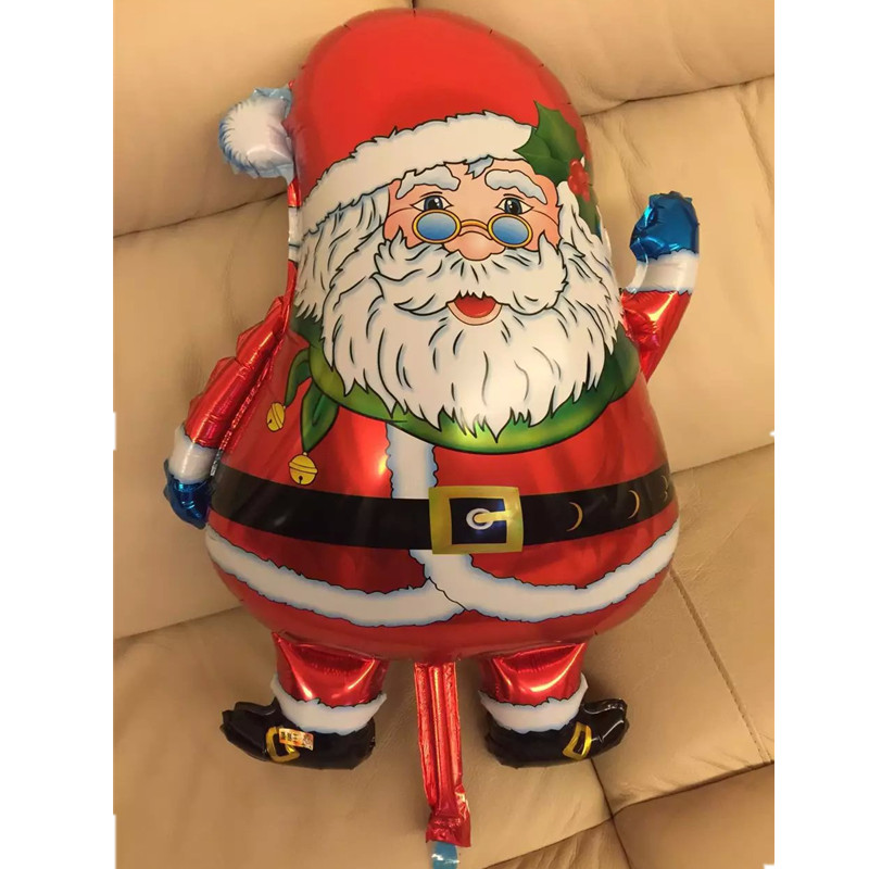 Best Selling Santa Claus Foil Balloon Inflatable Helium Balloons Toys 75*49cm New Christmas Party Home Decorative Supplies(China (Mainland))