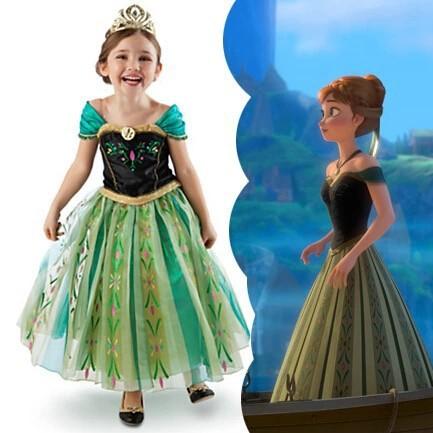 1Retail!6 designs New 2015 Girls Dress Elsa & Anna Cartoon Dress For Girl Party Dresses Girls Dress Children Clothing Kids Wear(China (Mainland))