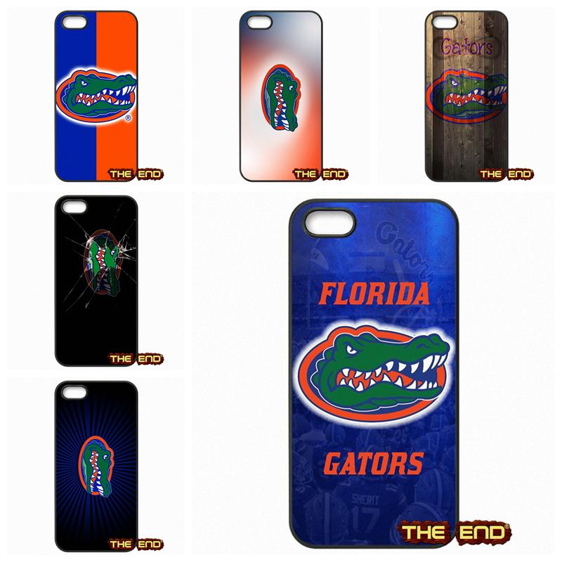 For Apple iPod Touch 4 5 6 iPhone 4 4S 5 5C SE 6 6S Plus 4.7 5.5 Fashion Florida Gators Logo Hard Black Phone Skin Case Cover(China (Mainland))