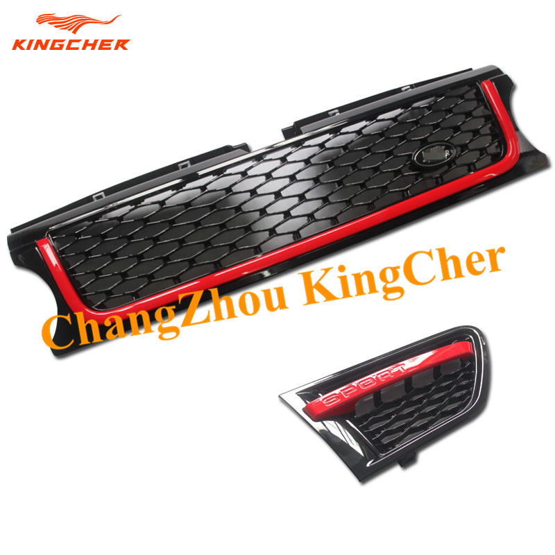 Value!! 2 pieces Side Grille and 1 piece Front Grille ABS FOR Land Rover Range Rover Sport 2010 2011 2012(China (Mainland))