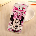 S6 Edge Plus Case cute cartoon Minnie Mickey Phone Cases Transparent soft TPU Cover Funda For