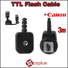 Mcoplus FT-35C Professional Off Camera Flash Sync Shoe Cord Cable for Canon 580EX 430EX II 550EX 50D 60D 70D 450D 550D 600D(China (Mainland))