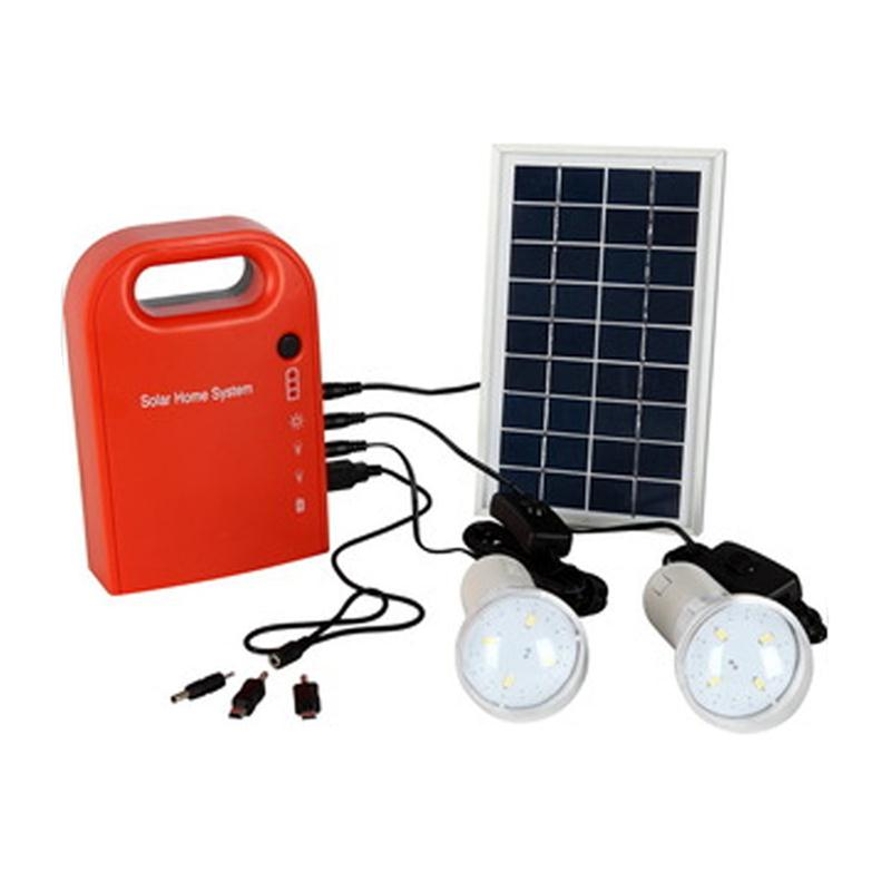 Portable Solar Lamp Panel Power Generator USB Cable Battery Charger Emergency Charging LED Lighting System For Household Street(China (Mainland))