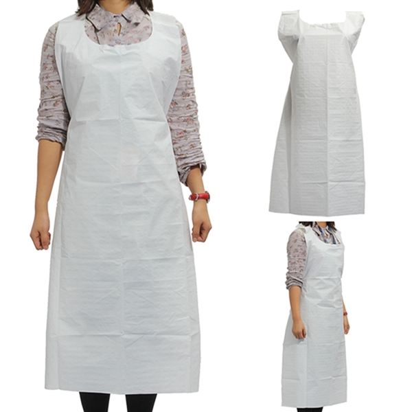 1Pc 2015 New Arrival Disposable Kitchen Wear Apron Barbecue Chafing Dish PE Flower Pattern Simple Design Aprons Promotion(China (Mainland))