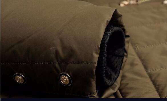 Скидки на 2016 Горячие Продажа Зимняя Куртка Мужчины Куртка Теплый Толстый Мужчина верхняя одежда Turn Down Меховой Воротник Короткие Роскошный Жакет Карман Пальто MK409